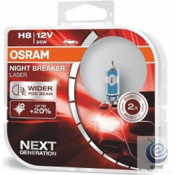 Set 2 Becuri auto halogen Osram H8 Night Breaker Laser NEXT GENERATION +150%, 35W, 12V