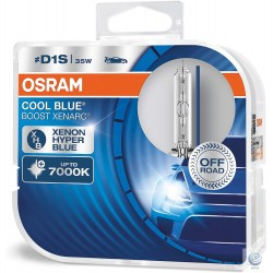 Becuri auto Osram Xenarc Cool Blue Boost 66140CBB-HCB D1S max. 7000K uz OFF ROAD set 2 buc
