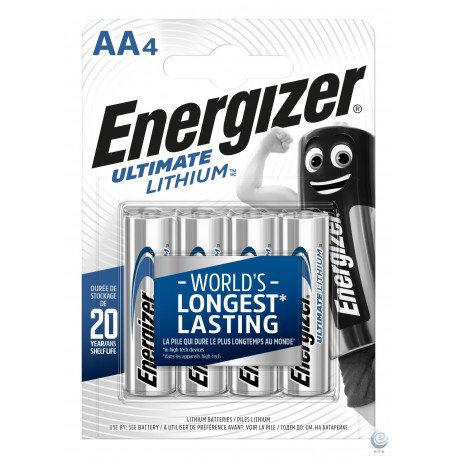 Baterie Energizer Ultimate Lithium AA R6 L91 1.5V 4 buc blister