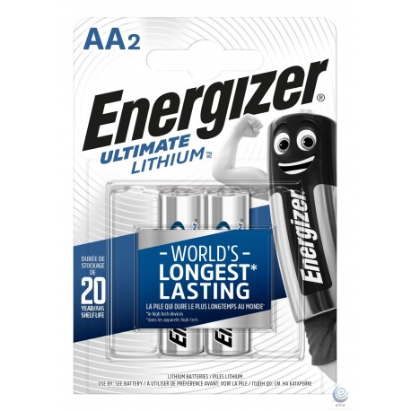 Baterie Energizer Ultimate Lithium AA R6 L91 1.5V 2 buc blister