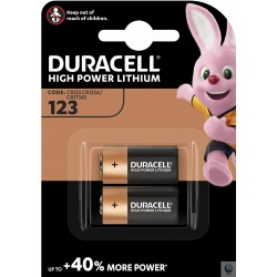 Baterii litiu Duracell High Power Ultra CR123A blister 2